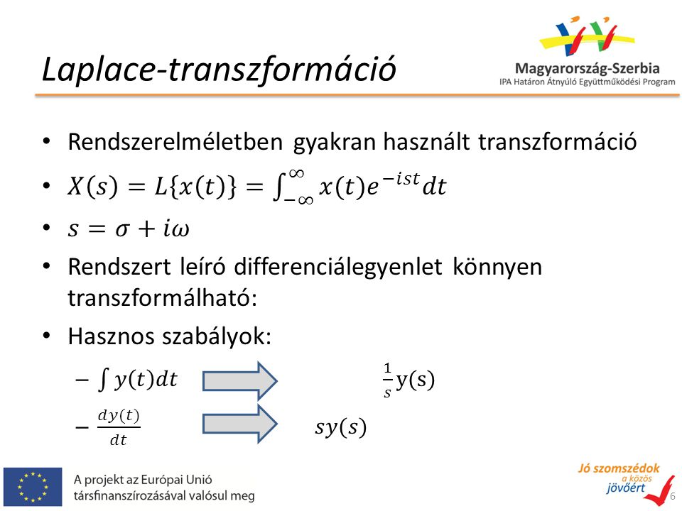 Laplace-transzformáció 6
