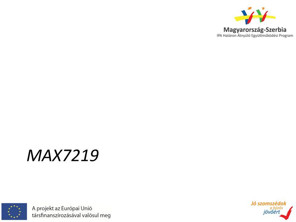 MAX7219 – alkalmazása