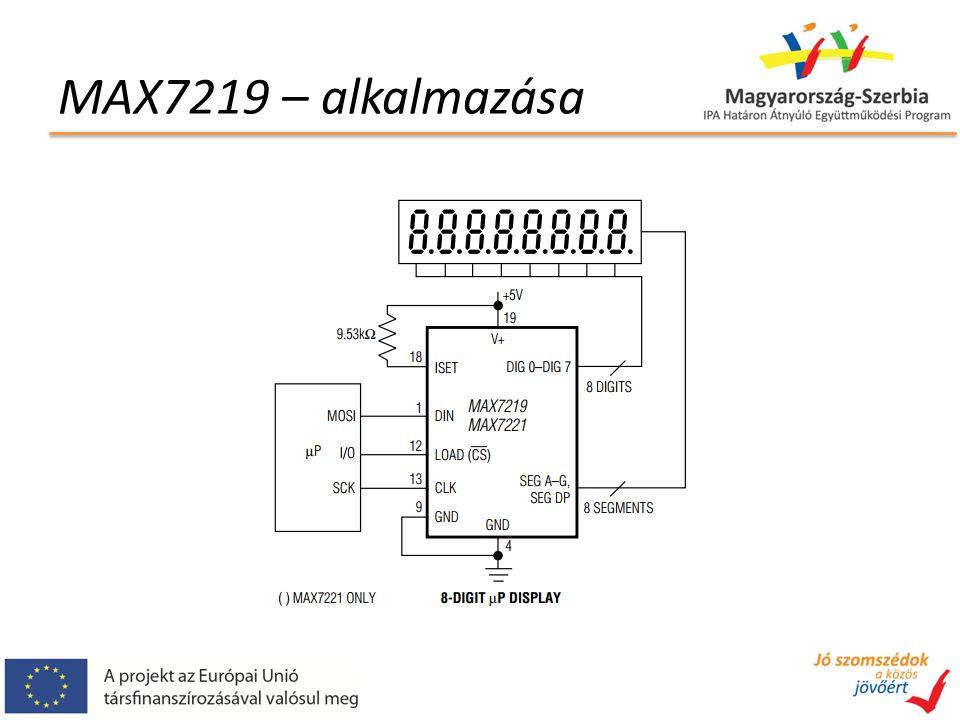 MAX7219 – kommunikáció