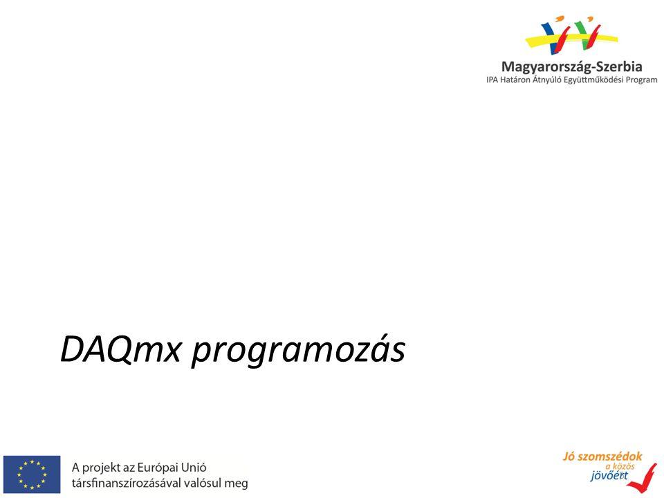 DAQmx programozás 5