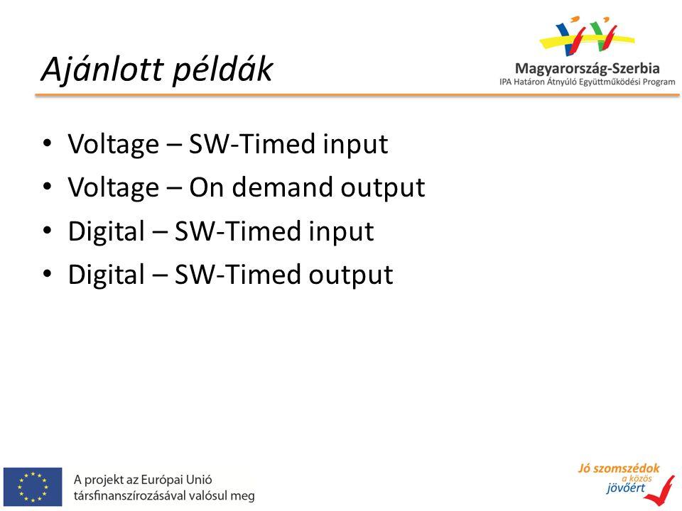Fogalmak és módszerek On demand / software timed: A számítógépen futó program végzi az időzítést HW timed: az időzítést a hardver végzi (mintavételezés) Channel: aktuálisan kiválasztott csatorna Task: mérési feladat (több csatornát is tartalmazhat)