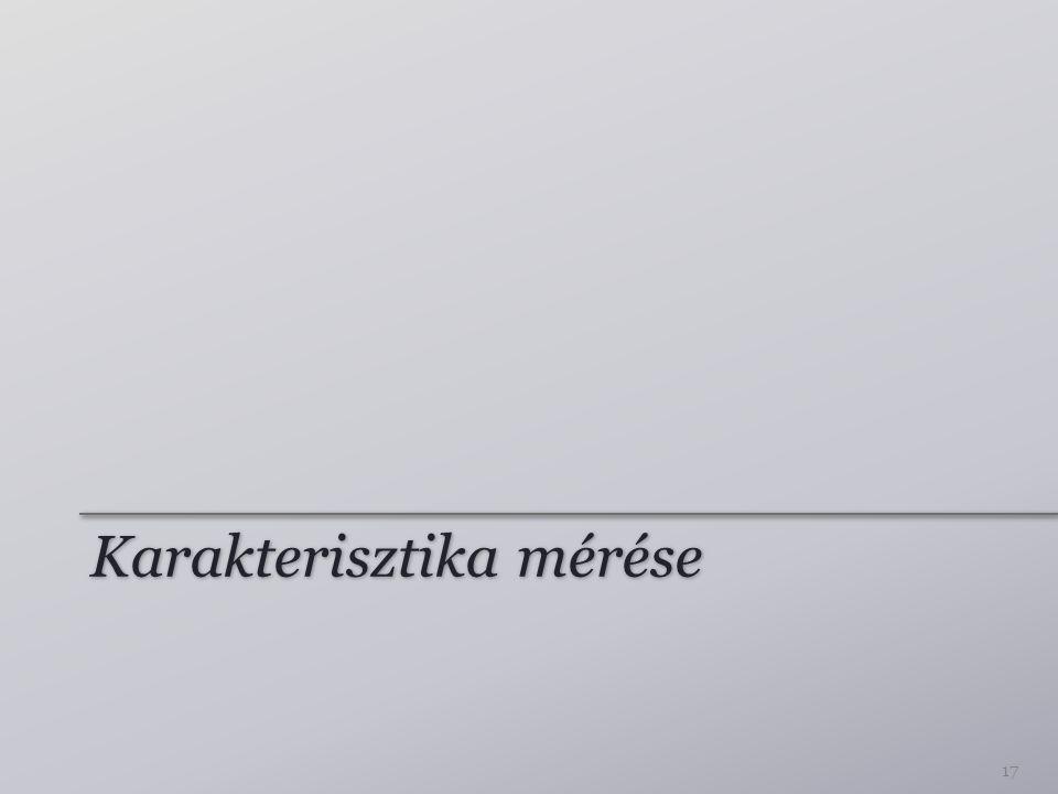 Karakterisztika mérése 17