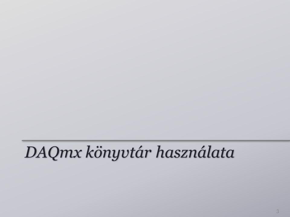 DAQmx könyvtár használata 3