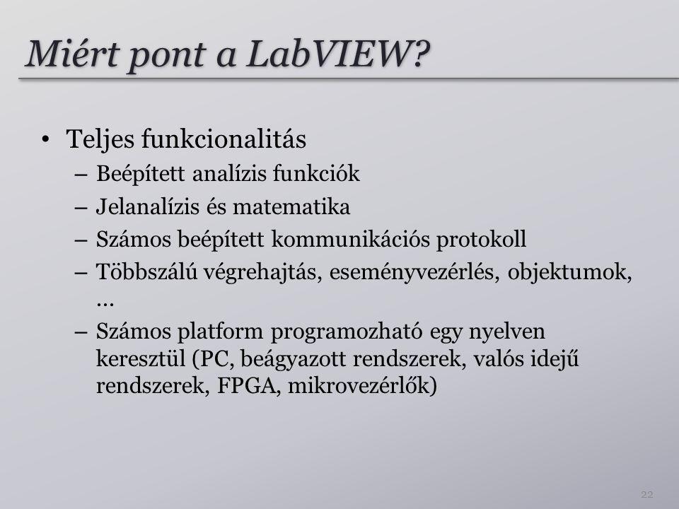 Miért pont a LabVIEW.