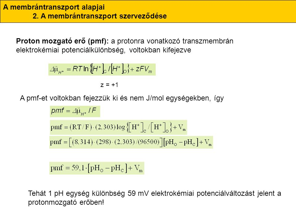 A membrántranszport alapjai 2.