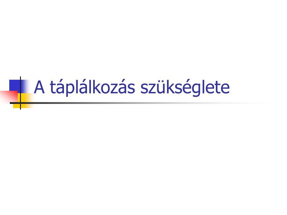 Táplálkozási ajánlás az egészséges magyar felnőtt lakosság részére