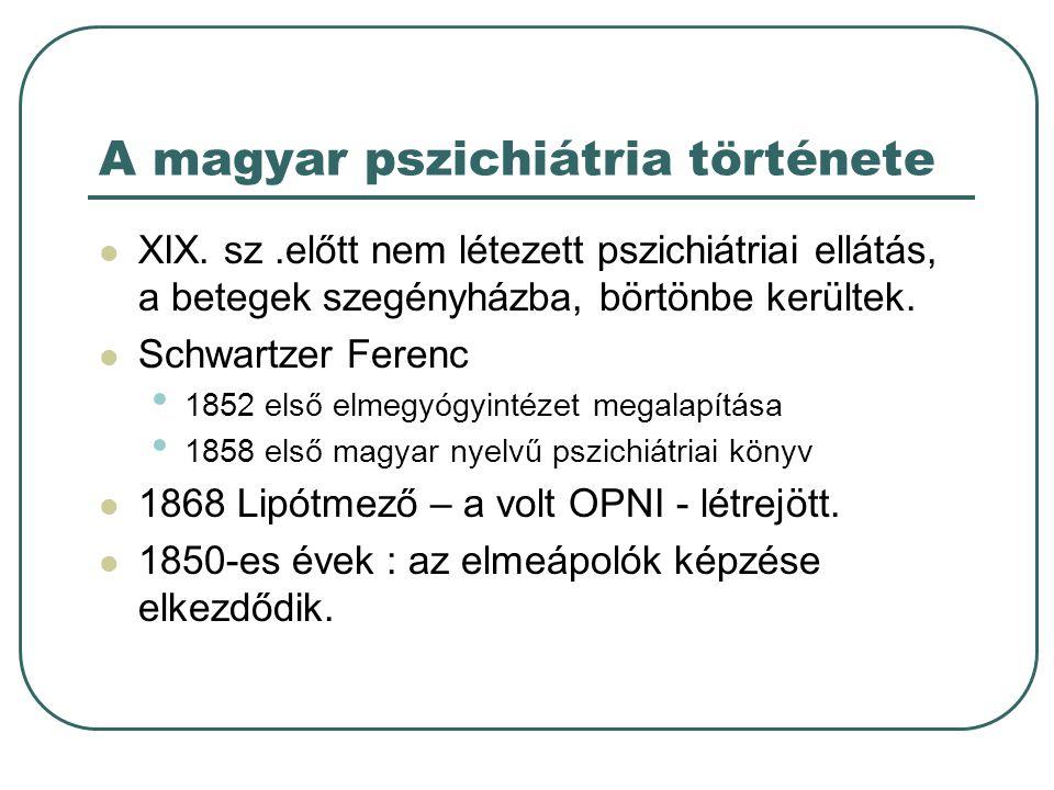 A magyar pszichiátria története XIX.
