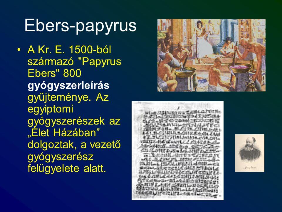 Ebers-papyrus A Kr. E. 1500-ból származó