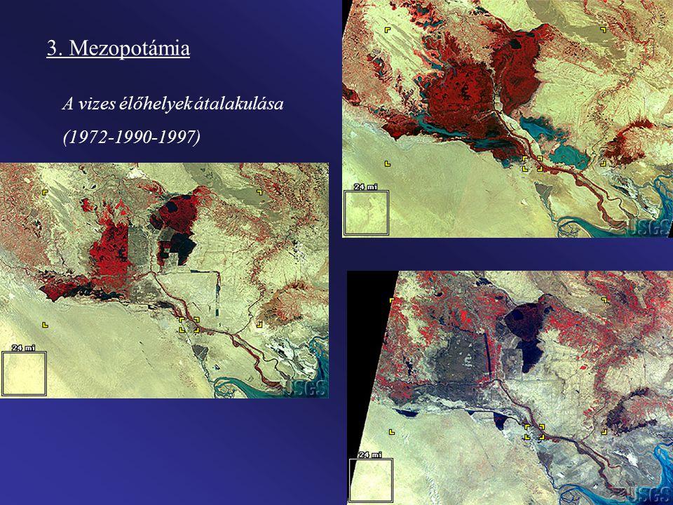 3. Mezopotámia A vizes élőhelyek átalakulása (1972-1990-1997)