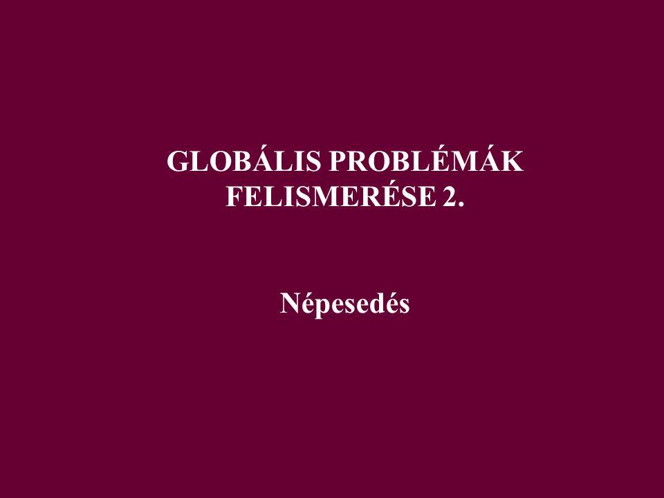 GLOBÁLIS PROBLÉMÁK FELISMERÉSE 2. Népesedés