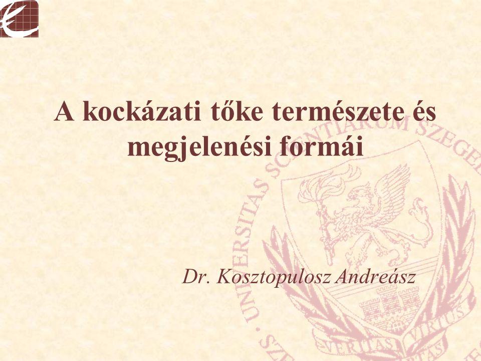 A kockázati tőke természete és megjelenési formái Dr. Kosztopulosz Andreász