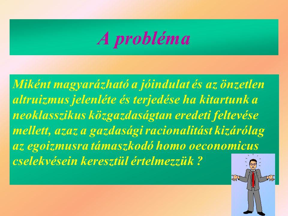 Reciprok altruizmus és mutualizmus (I.) 1.