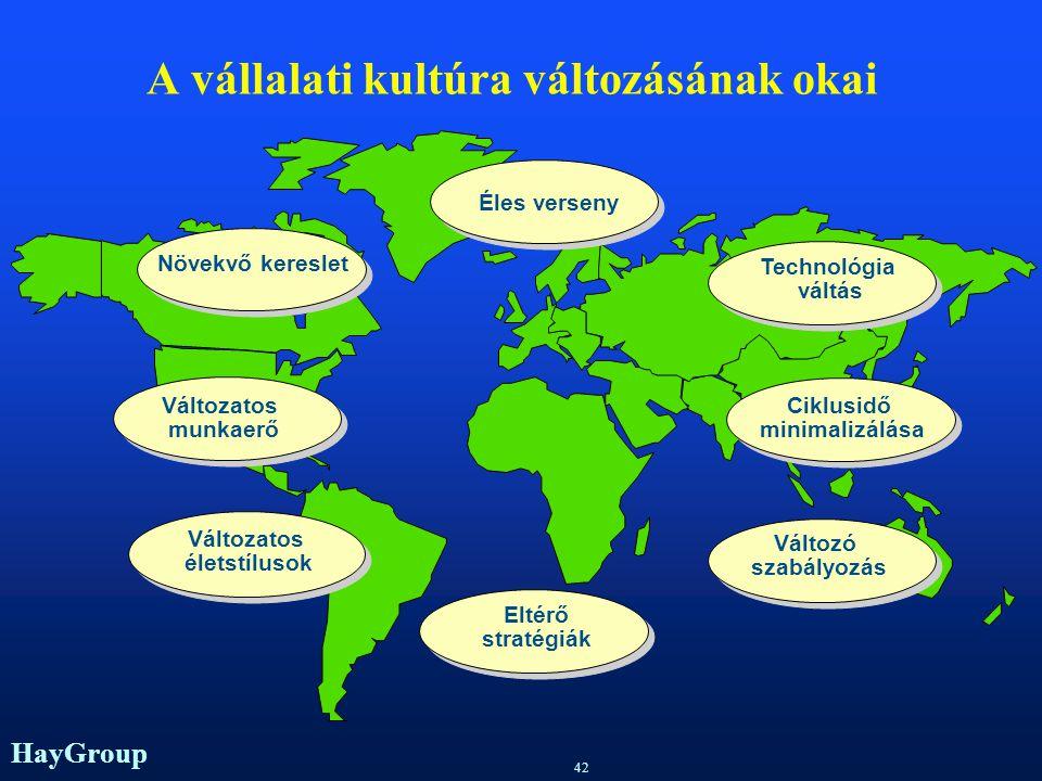 HayGroup 41 Jellegzetességek a multinacionális vállalatoknál EE urópában több vezetési kultúra van jelen NN emzeti kultúrák eltérőek EE gy nemze