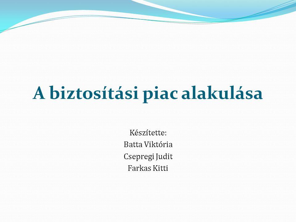 A biztosítási piac alakulása Készítette: Batta Viktória Csepregi Judit Farkas Kitti