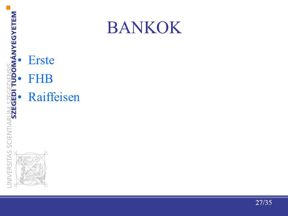 27/35 BANKOK Erste FHB Raiffeisen