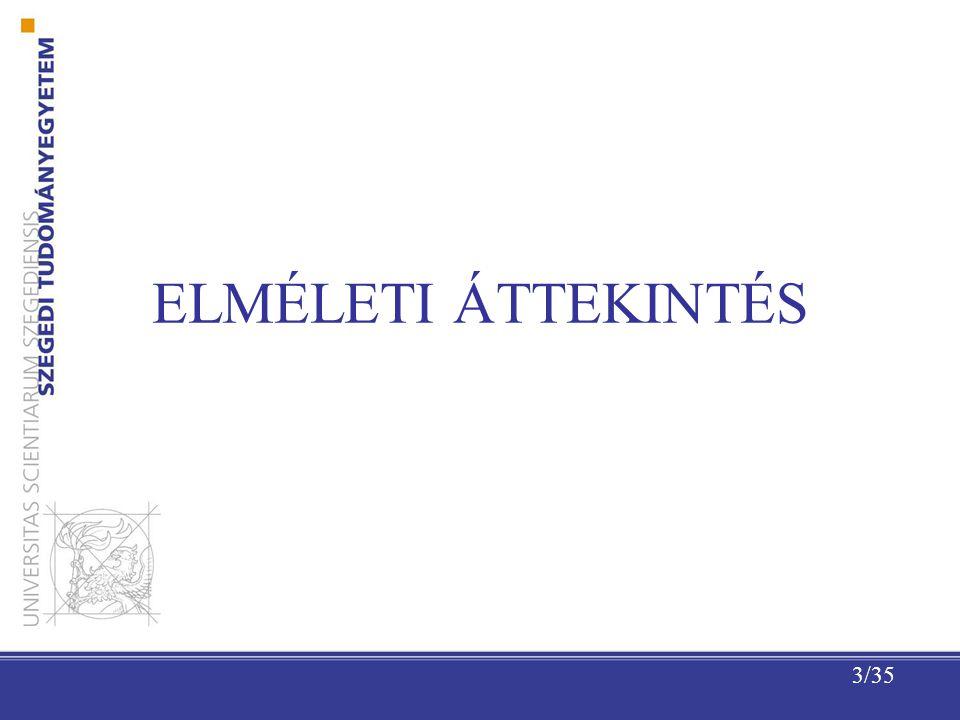 3/35 ELMÉLETI ÁTTEKINTÉS