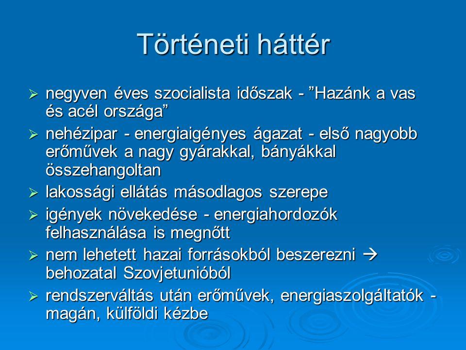 Jelenlegi tulajdonosi szerkezet az egyes ágazatokban Szénhidrogén ipar  A MOL Rt.
