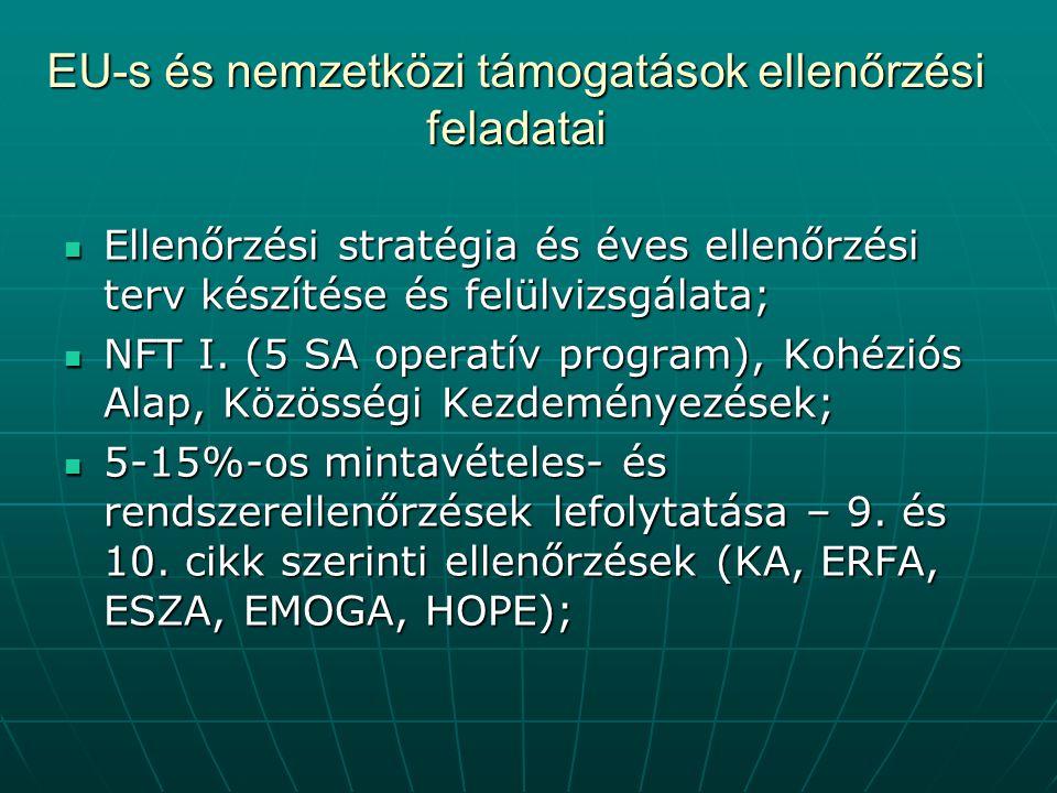 EU-s és nemzetközi támogatások ellenőrzési feladatai Ellenőrzési stratégia és éves ellenőrzési terv készítése és felülvizsgálata; Ellenőrzési stratégia és éves ellenőrzési terv készítése és felülvizsgálata; NFT I.