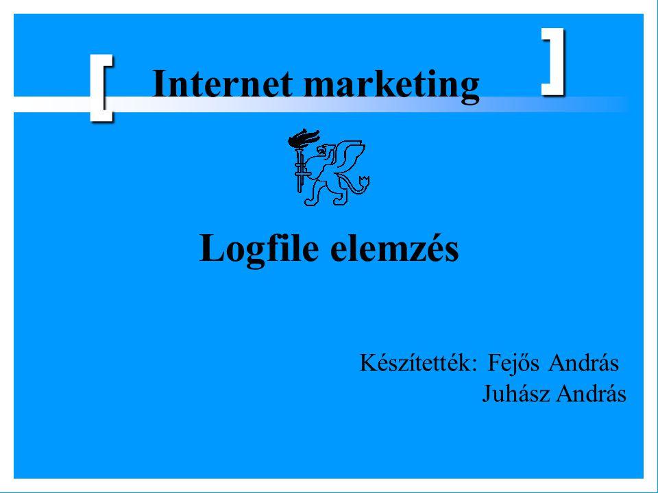 Internet marketing [ ] Logfile elemzés Készítették: Fejős András Juhász András