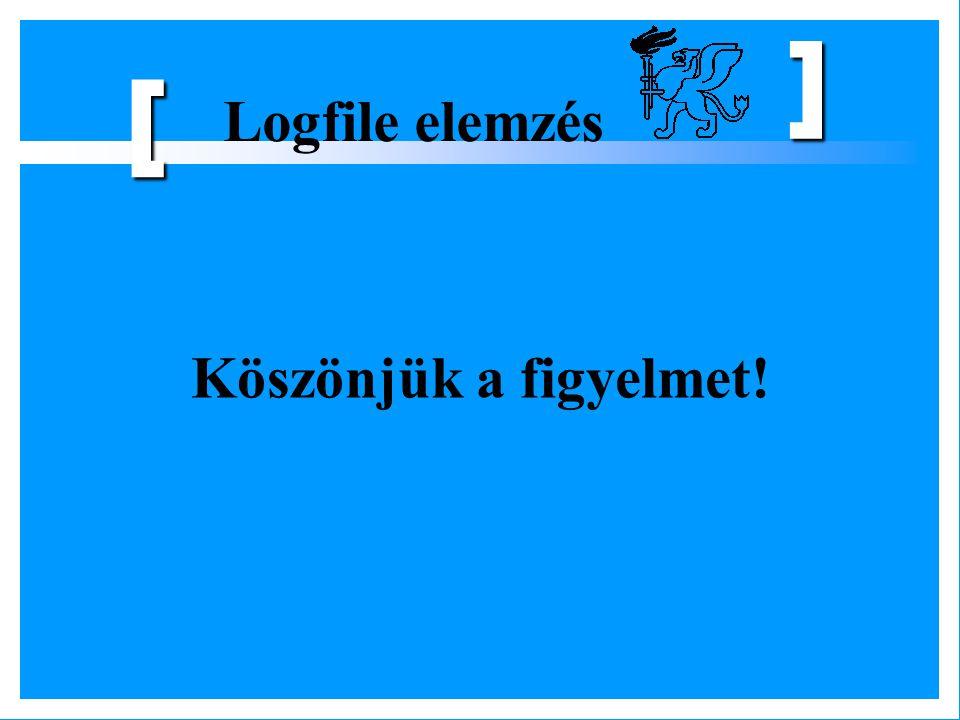 Logfile elemzés [ ] Köszönjük a figyelmet!