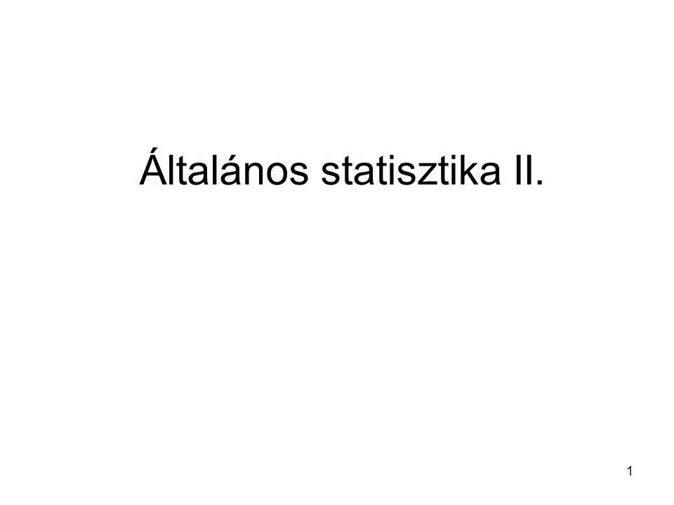 1 Általános statisztika II.