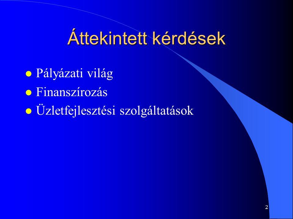1 Vállalkozásfejlesztés - gyakorlati javaslatok Dr. Imreh Szabolcs SZTE GTK