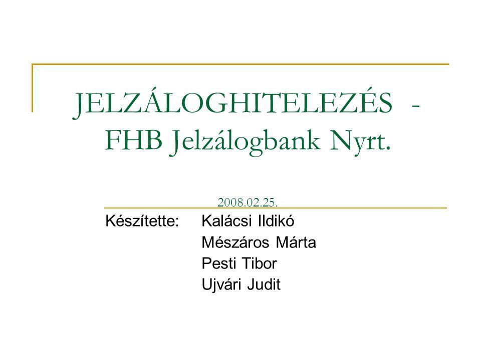 1/35 JELZÁLOGHITELEZÉS - FHB Jelzálogbank Nyrt.2008.02.25.
