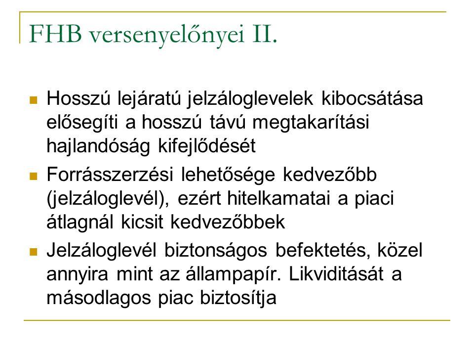 29/35 FHB versenyelőnyei II.