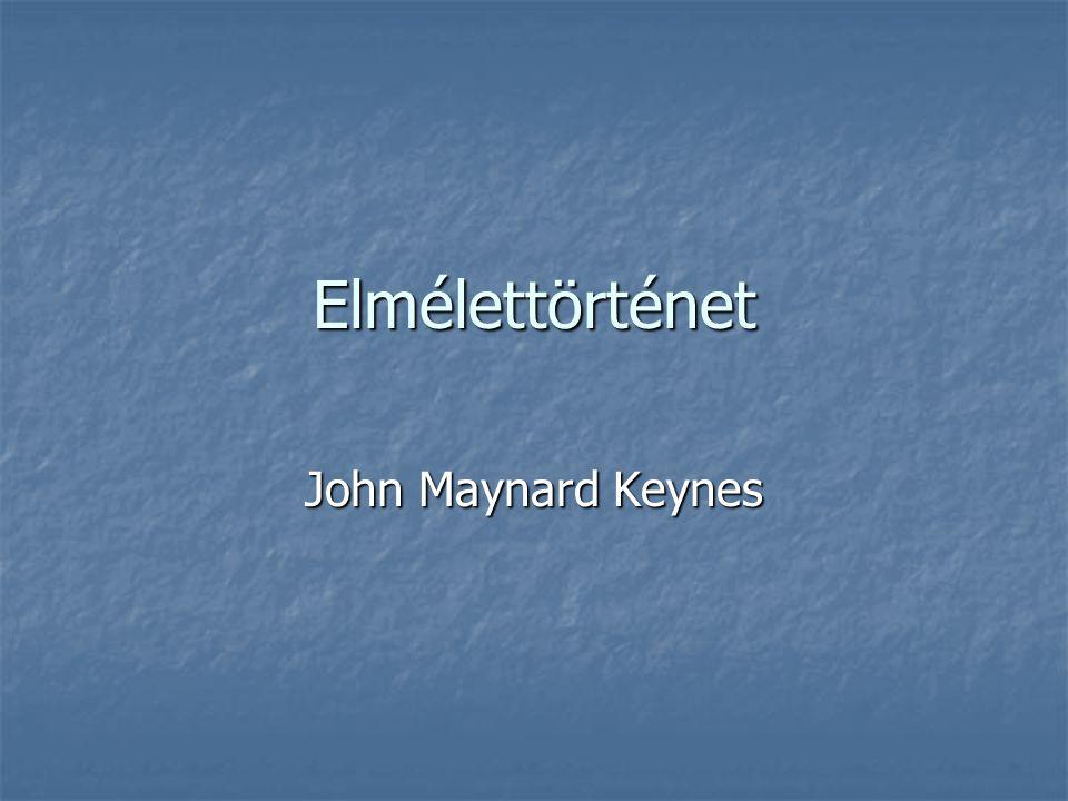 Elmélettörténet John Maynard Keynes