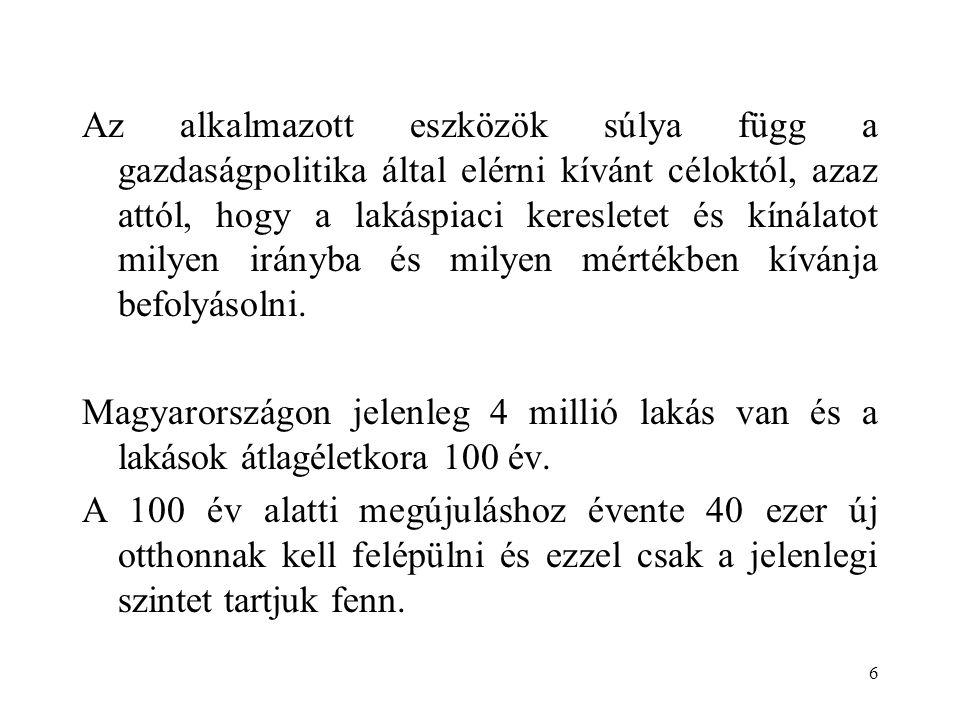 17 A kínálati oldal: a bankszektor  A magyar bankszektor jó tulajdonosi hátterű, megfelelő tőkeerejű, jövedelmező, bővül a bankok által kínált szolgáltatások köre.