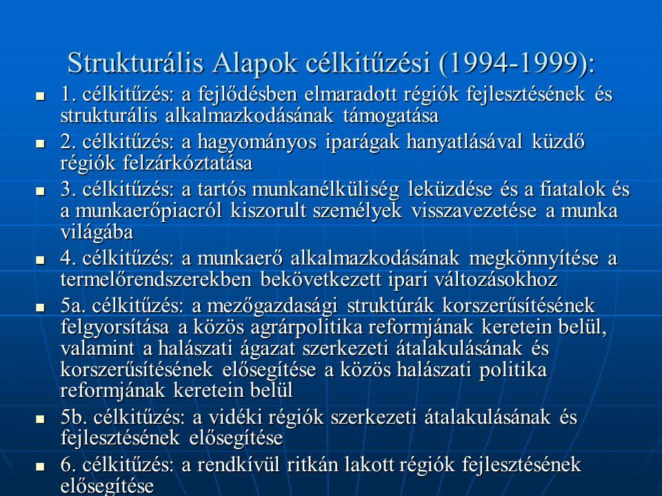 Strukturális Alapok célkitűzési (1994-1999): 1.