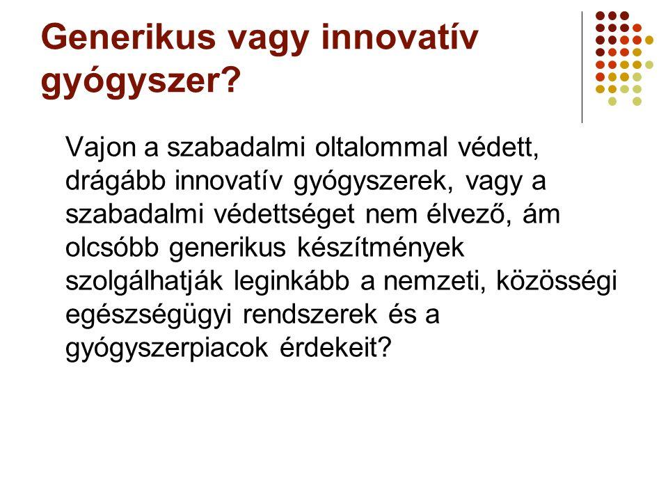 Generikus vagy innovatív gyógyszer? Vajon a szabadalmi oltalommal védett, drágább innovatív gyógyszerek, vagy a szabadalmi védettséget nem élvező, ám