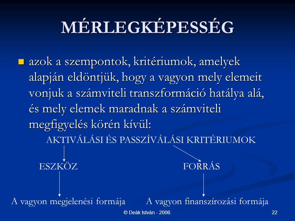 22© Deák István - 2006.