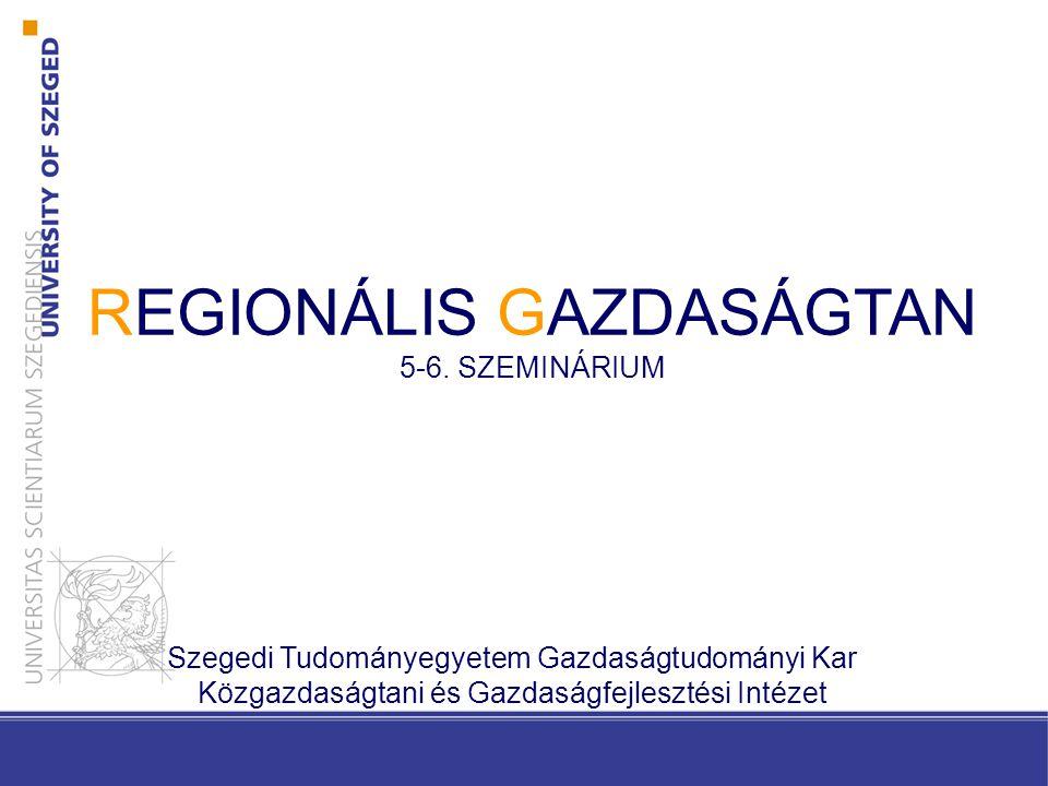 REGIONÁLIS GAZDASÁGTAN 5-6.