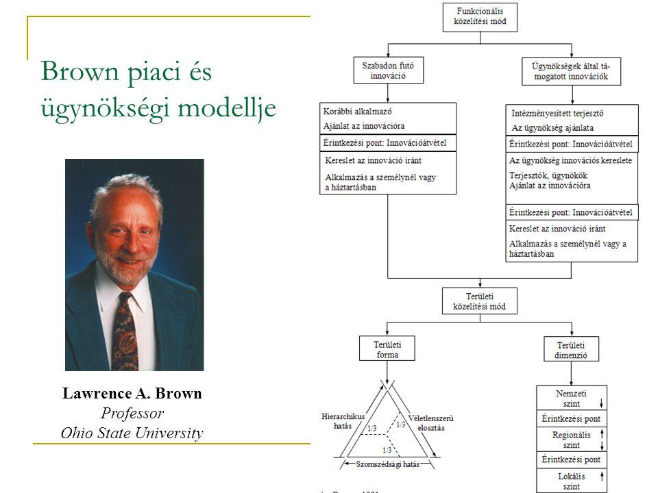 Brown piaci és ügynökségi modellje Lawrence A. Brown Professor Ohio State University