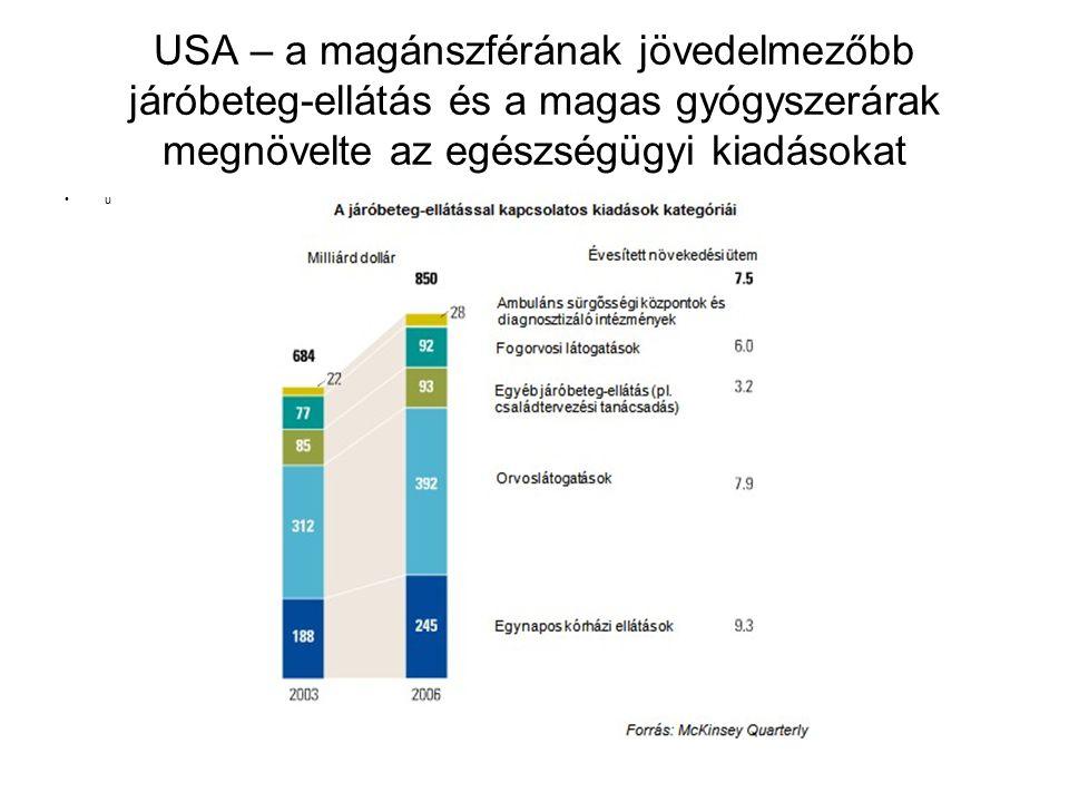USA – a magánszférának jövedelmezőbb járóbeteg-ellátás és a magas gyógyszerárak megnövelte az egészségügyi kiadásokat u
