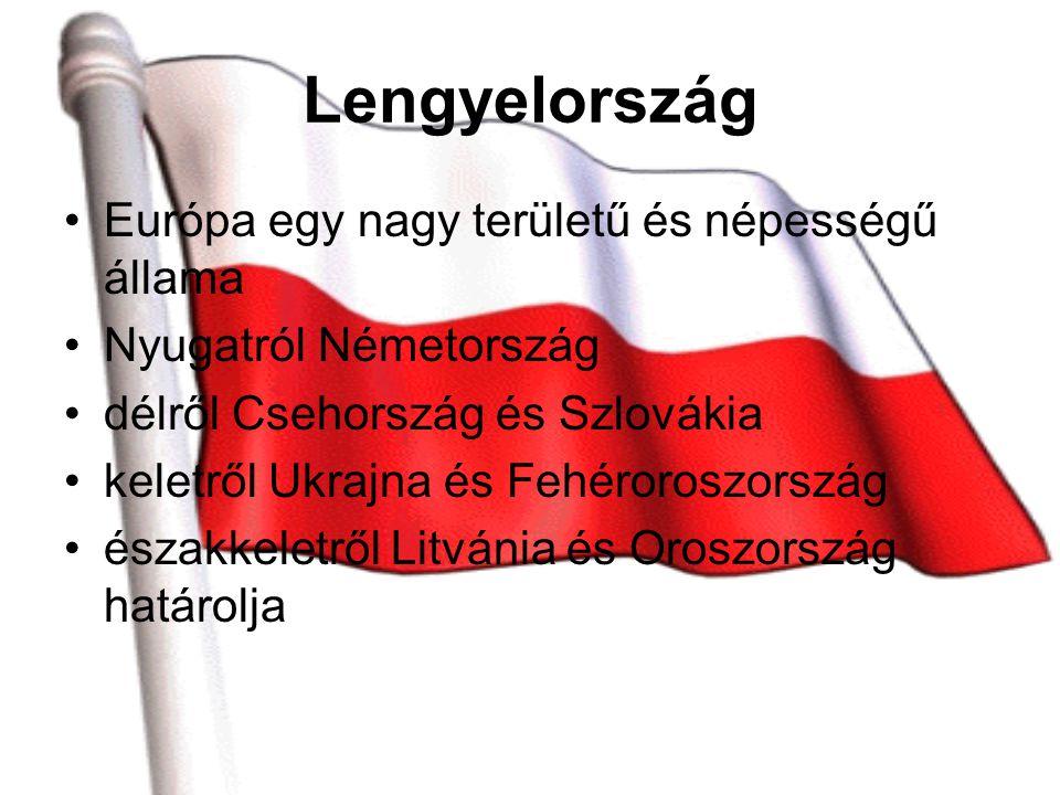 Lengyelország Európa egy nagy területű és népességű állama Nyugatról Németország délről Csehország és Szlovákia keletről Ukrajna és Fehéroroszország északkeletről Litvánia és Oroszország határolja