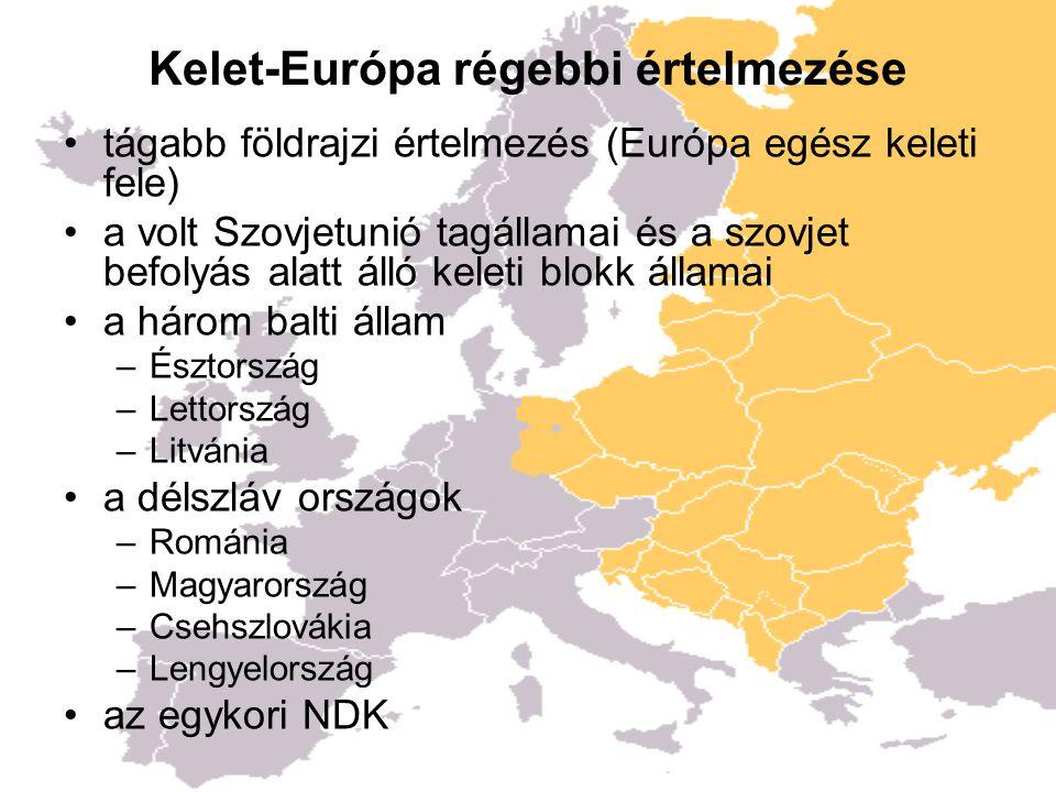 Kelet-Európához sorolt ázsiai országok három kaukázusi államot, politikai és kulturális szempontból gyakran Kelet-Európa részének tekintik földrajzilag ezek Ázsia részét képezik –Azerbajdzsán –Örményország –Grúzia Kazahsztánt ugyanakkor nem sorolják Kelet- Európához, bár földrajzilag területének egy jelentős része Európához tartozik.