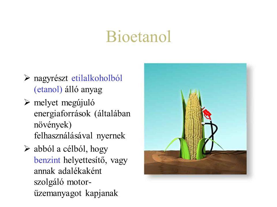 Bioetanol  nagyrészt etilalkoholból (etanol) álló anyag  melyet megújuló energiaforrások (általában növények) felhasználásával nyernek  abból a cél
