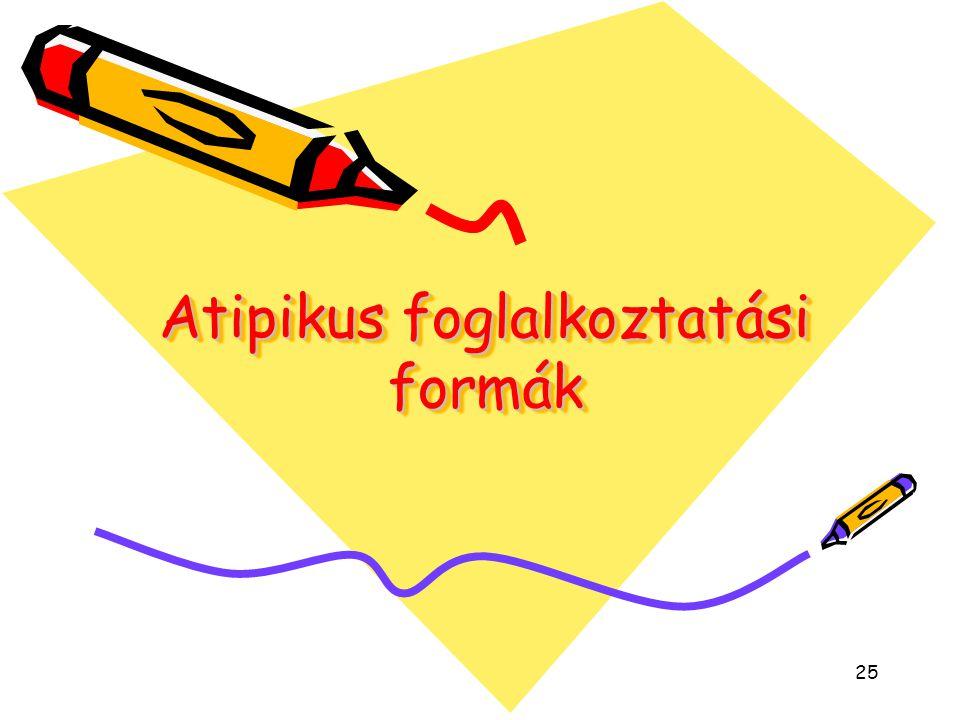 25 Atipikus foglalkoztatási formák