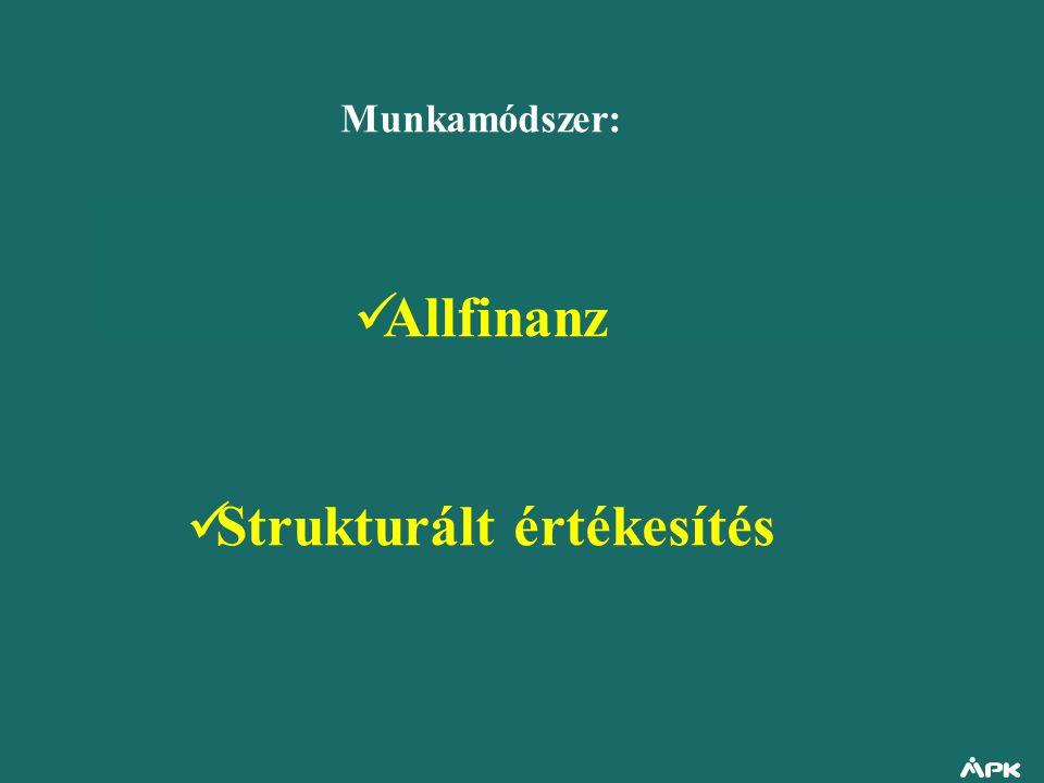 Munkamódszer: Allfinanz Strukturált értékesítés