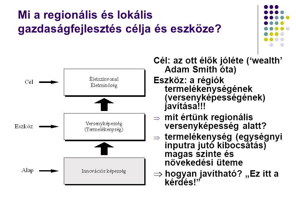 Mi a regionális és lokális gazdaságfejlesztés célja és eszköze.
