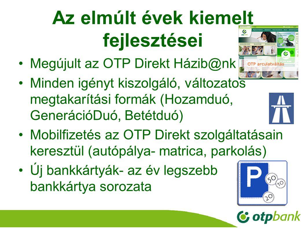 22 Az elmúlt évek kiemelt fejlesztései Megújult az OTP Direkt Házib@nk Minden igényt kiszolgáló, változatos megtakarítási formák (Hozamduó, GenerációD