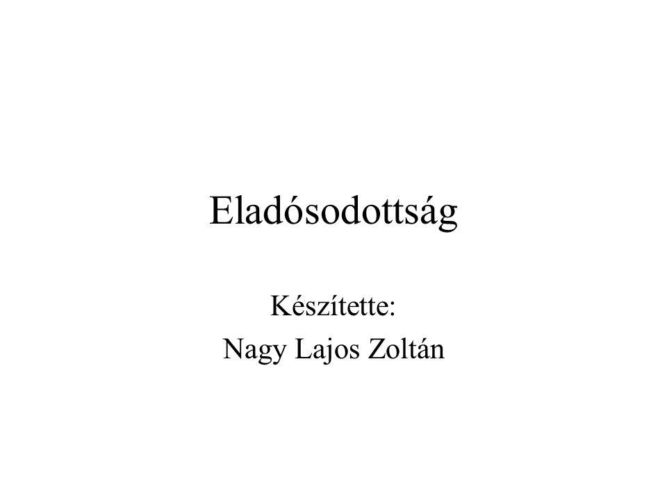 Eladósodottság Készítette: Nagy Lajos Zoltán