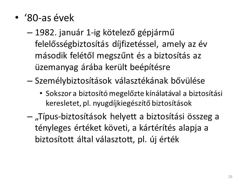 '80-as évek – 1982.