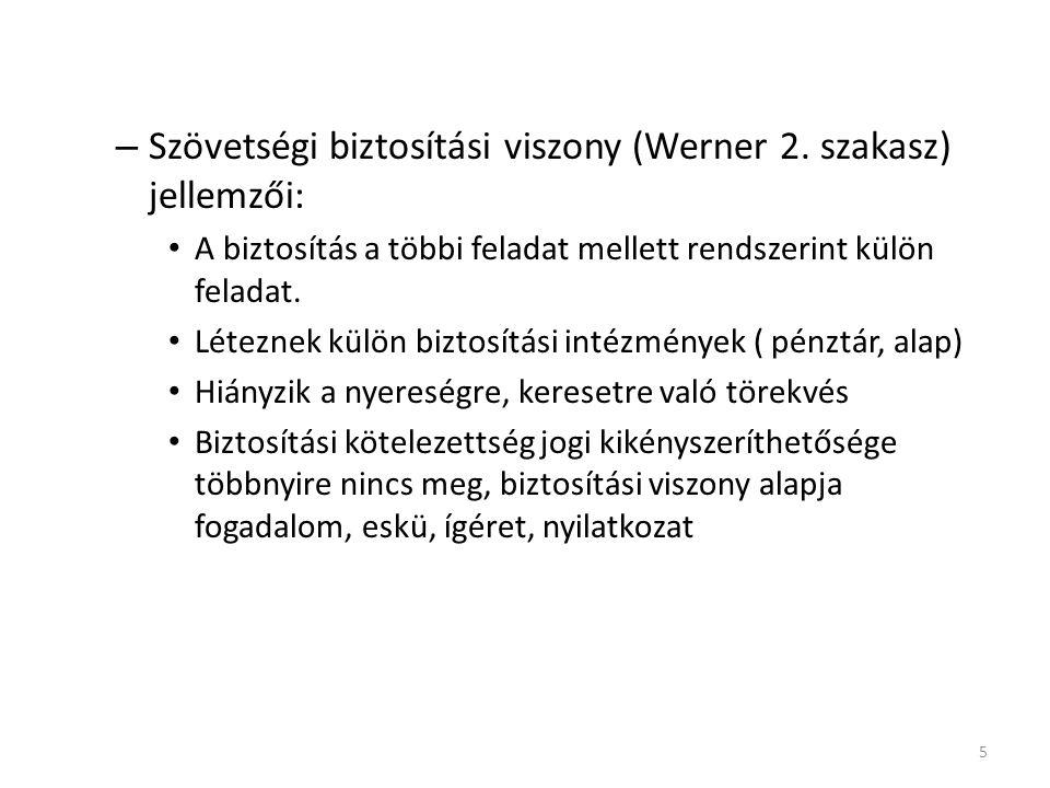 – Szövetségi biztosítási viszony (Werner 2.
