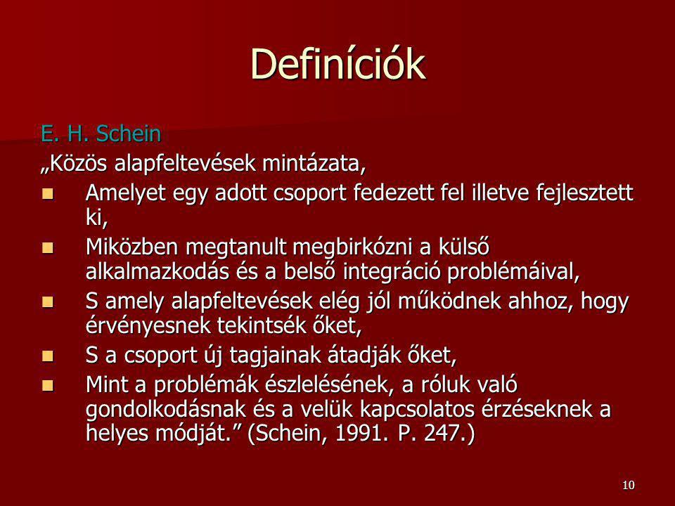 10 Definíciók E.H.