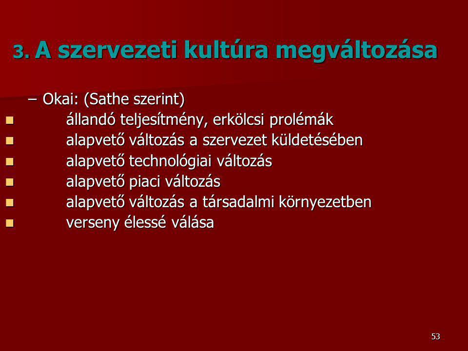 53 3.A szervezeti kultúra megváltozása 3.