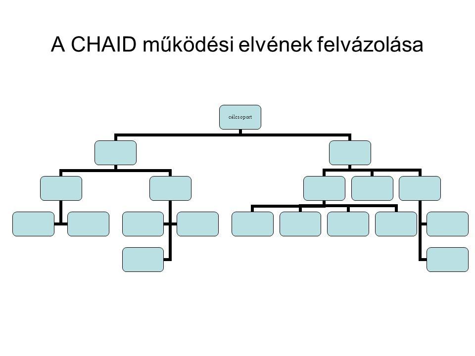 A CHAID működési elvének felvázolása célcsoport
