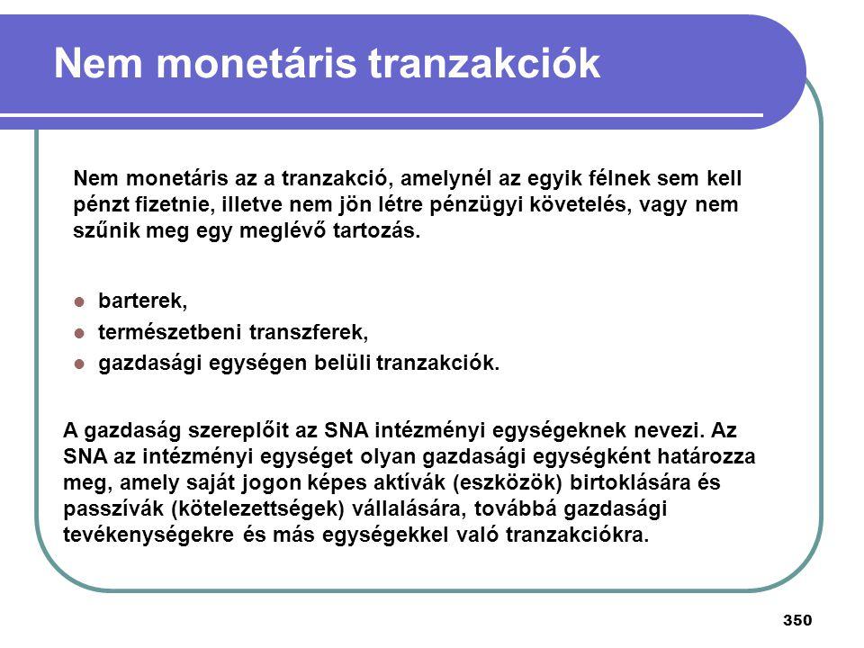 350 A gazdaság szereplőit az SNA intézményi egységeknek nevezi. Az SNA az intézményi egységet olyan gazdasági egységként határozza meg, amely saját jo